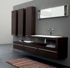 Modern Bathroom Vanities And Cabinets Grey Wall Color With Wooden Modern Bathroom Sink Cabinet For