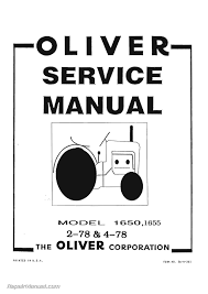 oliver 1650 1655 2 78 4 78 tractor service manual