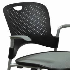 Black And White Chair by Herman Miller Caper Used Mobile Stack Chair Black And Silver