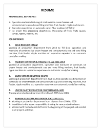 Forklift Operator Resume Examples by Production Operator Job Resume Corpedo Com