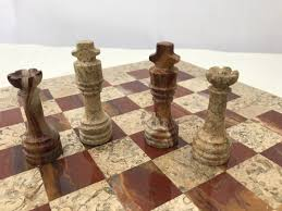theme chess sets fossil and coral chess set with beautiful 16 inch marble chess