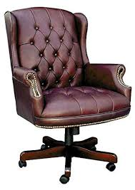 tufted leather desk chair teknik office chairman traditional button tufted leather office