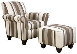 Upholstered Accent Chair Chairs Natural Stripe Design Upholstered Accent Chairs For