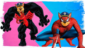 paw patrol venom spiderman coloring pages venom spiderman