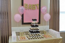 DIY Pink & Gold Baby Shower Decorations