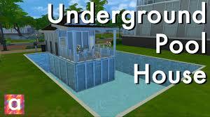 underground pool home sims 4 build youtube