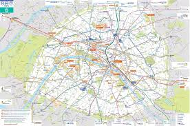 Lyon Metro Map by Paris Transport Map With Main Sightseeings