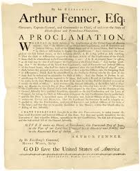 thanksgiving proclamation arthur fenner 1745 1805 u2014 the fenner family tree