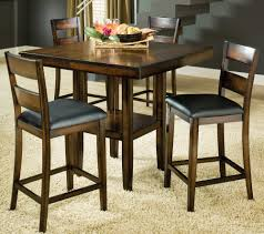 clarion 5 piece square pedestal pub table set by bernards home