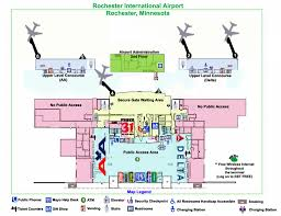 Airport Map Map Of The Terminal At Rochester International Airport