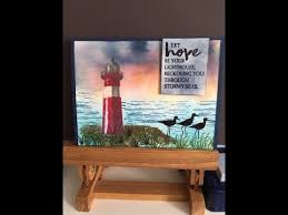 stin up high tide lighthouse card