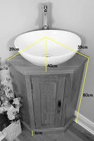 Cloakroom Vanity Sink Units Corner Bathroom Cabinet Small Oak Cloakroom Vanity Unit Basin Bowl
