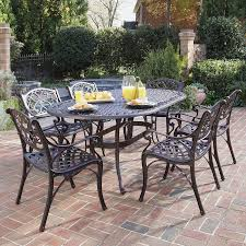 Aluminum Outdoor Patio Furniture shop home styles biscayne 7 piece rust bronze aluminum patio