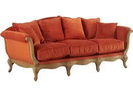 canapé hanjel pompadour hanjel sofa 3 seats pompadour orange hanjel