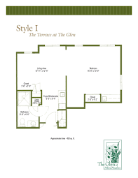 floor plans of the terrace at the glen assisted living in