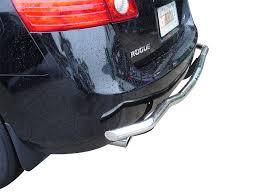 nissan rogue rear bumper protector 08 15 rogue select rear bumper protector grill guard single tube