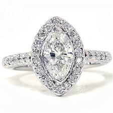 marquise halo engagement ring marquise halo ring 14k white gold 1 40ct marquise halo