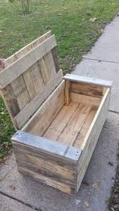 Build A Toy Box Bench Seat by Pallet Toy Box That I Made For My Son Furniture Ideas