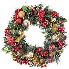 pre lit wreath pre lit decorated wreath scarlet hydrangea 30 home