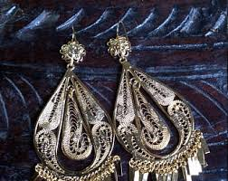 Costume Chandelier Earrings Vintage Chandelier Earrings Etsy