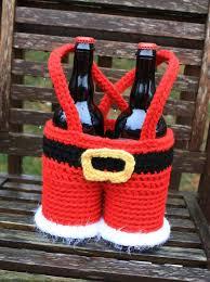 christmas wine gift baskets santa gift basket pdf crochet pattern only