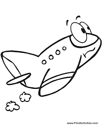 airplane coloring worried cartoon plane
