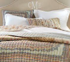scalloped organic patchwork quilt u0026 sham pottery barn i have