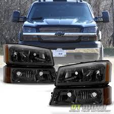 2003 chevy silverado fog lights smoked 2003 2006 chevy silverado headlights bumper signal ls 03