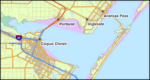 Corpus Christi Map Coastal Bend The Offshore Petroleum Industry And Its Effects On