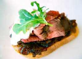 beef canape recipes roast beef canapés with stilton and jam day 4 of