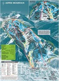 Colorado Ski Map by Aspen Moutain Colorado Aspen Moutain Skiing Map Of Aspen