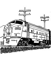 streamlined diesel engine train railroad coloring