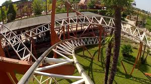 brontojet roller coaster pov movieland park italy classic