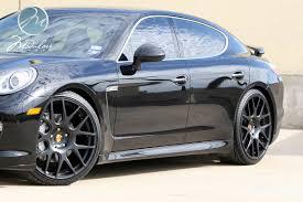 Porsche Panamera Black Rims - black panamera s lowered on black 22 inch modulare rims