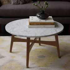 Marble Coffee Table Reeve Mid Century Coffee Table Marble West Elm