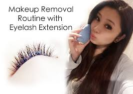 annasbeauty makeup removal routine with eyelash extension youtube