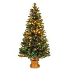 evergreen home decor 60 inch fiber optic evergreen firework tree with gold base green