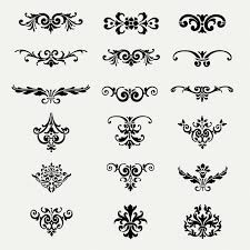 golden ornaments set vector free
