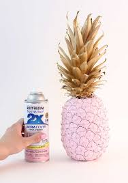 diy pink u0026 gold painted pineapple tutorial best friends for frosting