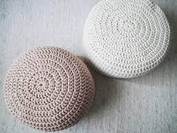 white off white pouf large crochet pouf ottoman floor