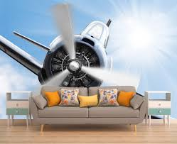 wall decor home decor home living plane wall sticker wall mural sky wallpaper plane jet wall mural removable