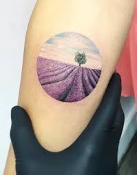 lavender field tattoo inkstylemag