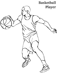 nba players coloring pages coloring pages of a basketball player sport coloring pages of