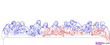 how to draw the last supper step by step art pop culture free free