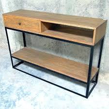 wood and metal console table metal console tables wood and table with drawers gilesand