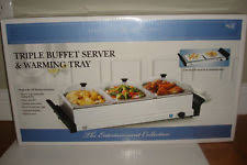 Buffet Server With Warming Tray by Triple Buffet Server Small Kitchen Appliances Ebay