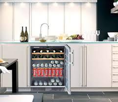 modern built in kitchen island beverage center in white kitchen