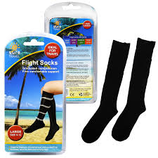 Sure travel unisex universal mens womens compression flight socks