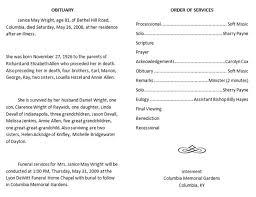 funeral program example christian funeral program sample 1