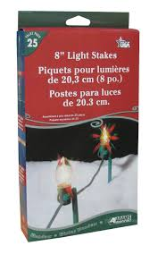 C9 Christmas Lights Lowes by Amazon Com Adams Christmas 9104 99 1640 8 Inch Light Stakes 25